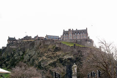 Edinburgh, Scotland, UK-circa July 2016:View of the city, several monuments and the Castle. Edinburgh, Scotland royalty free stock photos