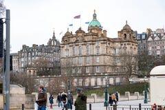 Edinburgh, Scotland, UK-circa July 2016:View of the city, several monuments and the Castle. Edinburgh, Scotland Stock Photography