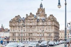 Edinburgh, Scotland, UK-circa July 2016:View of the city, several monuments and the Castle. Edinburgh, Scotland Royalty Free Stock Photography