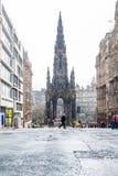 Edinburgh, Scotland, UK-circa July 2016:View of the city, several monuments and the Castle. Edinburgh, Scotland Royalty Free Stock Image