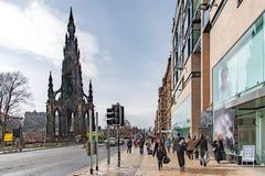 Edinburgh, Scotland, UK-circa July 2016:View of the city, several monuments and the Castle. Edinburgh, Scotland Stock Images