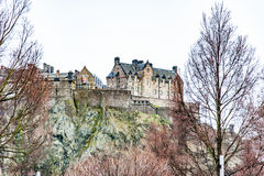 Edinburgh, Scotland, UK-circa July 2016:View of the city, several monuments and the Castle. Edinburgh, Scotland Royalty Free Stock Images