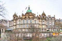 Edinburgh, Scotland, UK-circa July 2016:View of the city, several monuments and the Castle. Edinburgh, Scotland Royalty Free Stock Photo