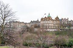 Edinburgh, Scotland, UK-circa July 2016:View of the city, several monuments and the Castle. Edinburgh, Scotland Stock Photo