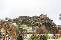 Edinburgh, Scotland, UK-circa July 2016:View of the city, several monuments and the Castle. Edinburgh, Scotland royalty free stock photography
