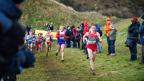 EDINBURGH, SCOTLAND, UK, January 10, 2015 - elite athletes compe Stock Image