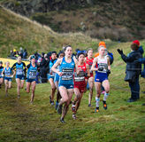 EDINBURGH, SCOTLAND, UK, January 10, 2015 - elite athletes compe Royalty Free Stock Photo