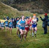 EDINBURGH, SCOTLAND, UK, January 10, 2015 - elite athletes compe Royalty Free Stock Photo