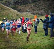 EDINBURGH, SCOTLAND, UK, January 10, 2015 - elite athletes compe Stock Image