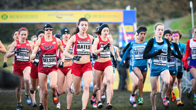 EDINBURGH, SCOTLAND, UK, January 10, 2015 - elite athletes compe Stock Photography