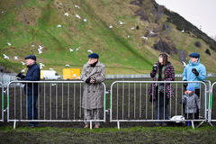 EDINBURGH, SCOTLAND, UK, January 10, 2015 - public enjoying the Royalty Free Stock Image