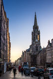 Edinburgh, Scotland, UK - 16 November 2016: Early morning in old town Edinburgh, Scotland, UK Stock Image