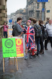 EDINBURGH, SCOTLAND, UK – September 18, 2014 - Independence referendum day Stock Images