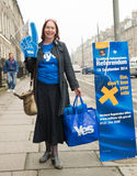EDINBURGH, SCOTLAND, UK – September 18, 2014 - Independence referendum day Stock Image