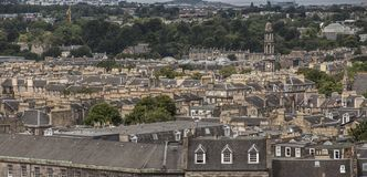 Edinburgh, Scotland - a view from Calton Hill - traditional architecture. This image shows a view of some of the buildings of the old town in Edinburgh stock photos