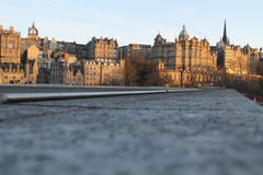 Edinburgh, Scotland. Edinburgh view historic monuments. Landscape Stock Photo