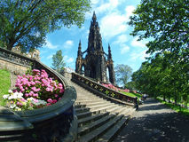 Edinburgh. The scott monument of Edinburgh Stock Image
