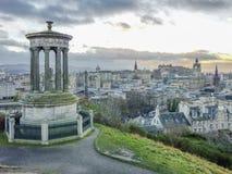 Edinburgh skyline as seen from Calton Hill Royalty Free Stock Photos
