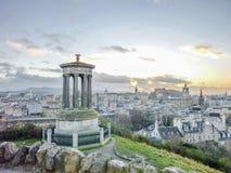 Edinburgh skyline as seen from Calton Hill Stock Photography