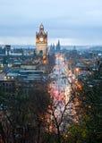 Edinburgh skyline with garden Scotland UK Stock Images