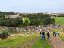 Edinburgh skyline and Holyrood Palac Stock Photo