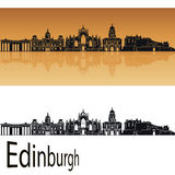 Edinburgh skyline in orange Royalty Free Stock Image