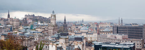 Edinburgh Skyline Panorama Stock Photography