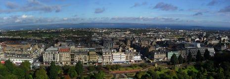 Edinburgh skyline panorama Royalty Free Stock Images