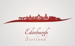 Edinburgh skyline in red Royalty Free Stock Photos