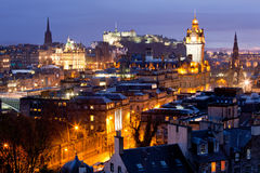 Edinburgh-Skyline-Schloss Schottland stockfotografie