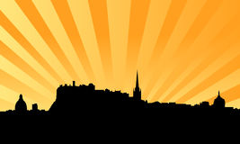 Edinburgh skyline vector background Stock Photo