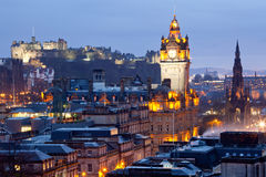 Edinburgh Skylines Dusk Stock Images
