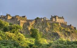 Edinburgh slott Arkivbild