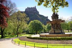 Edinburgh slott Fotografering för Bildbyråer