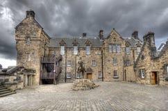 Edinburgh slottEsplanade royaltyfri foto