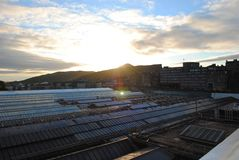 Edinburgh-Sonnenaufgang lizenzfreie stockfotografie