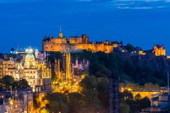Edinburgh-Sonnenuntergang stockfotos
