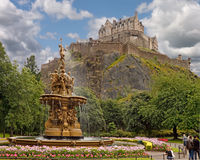 edinburgh springbrunn ross Royaltyfria Foton