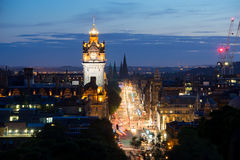 Edinburgh-Stadt, Scoltland, Großbritannien Stockbild