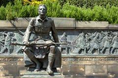 Edinburgh-Statue des Anrufs Stockfotos