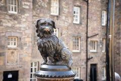 EDINBURGH, statue of Greyfriars Bobby. In winter 2014 Royalty Free Stock Photo