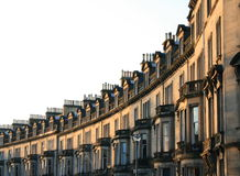 Edinburgh Street. Curved Edinburgh terraces brick houses Stock Photography