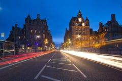Edinburgh Street. A street in Edinburgh, Scotland Stock Photography