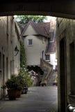 Edinburgh street and abbey Stock Photo
