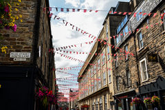 Edinburgh street. Great view of Edinburgh streets. Rose street south lane. Party royalty free stock photography
