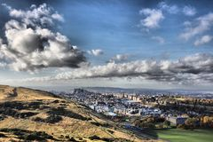 Edinburgh on a summers day from Arthur Seat Stock Image