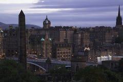 Edinburgh Sunset. Sunset in Edinburgh showing the predominant cityscape Royalty Free Stock Photos