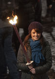 Edinburgh torchlight procession Royalty Free Stock Photos