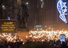 Edinburgh torchlight procession Stock Image