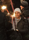Edinburgh torchlight procession Stock Images